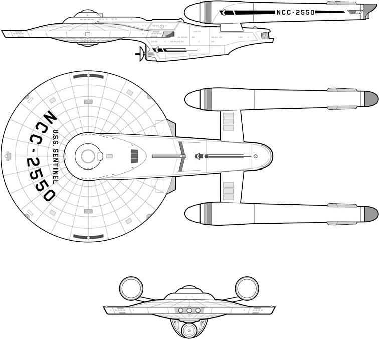 Sentinel Class Ix X Cruiser Fasa Star Trek 174 Starship
