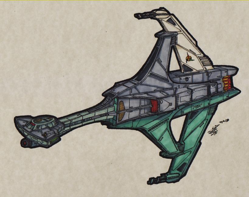 Klingon - K-21 Harasser Corvette_00