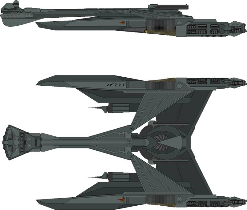 Klingon D-55 Qatlh Class Heavy Battlecruiser